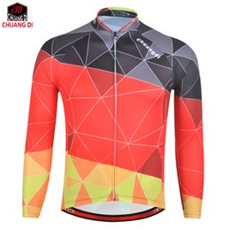 Quick Dry Shirts For Men Australia - Chuangdi Breathable Long Sleeve Cycling Jersey Spring Autumn Bike Shirt Bicycle Racing Riding Tops maillot manga larga For Men