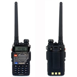 Dual Band Uhf Vhf Portable Canada - Wholesale-RETEVIS RT-5RV Portable Radio Walkie Talkie 5W 128CH Hf Transceiver UHF VHF DTMF VOX Dual Band FM Radio Two Way Radio A7107A