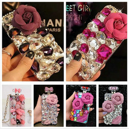 $enCountryForm.capitalKeyWord Canada - New Arrival Crystal Rhinestone Phone Case Cover For Apple iPhone 6 6Plus 5 5S 4 4S Six Type Cell Phone Cases