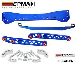 Honda lower arms online shopping - Tansky EPMAN Rear Lower Control Arm Subframe Brace Tie Bar For Honda Civic EK Blue Red Silver Golden Purple EP LAB EK