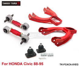 honda lower arms 2019 - Tansky -- Rear Lower Control Arms+ Front Camber Kits Fits For 92-95 Honda Civic EG EJ EH TK-FCACA-01EG cheap honda lower