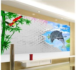 $enCountryForm.capitalKeyWord Canada - 3d wallpaper European minimalist bedroom living room TV backdrop Dolphin Wall 3D stripes abstract mural wallpaper 20159009