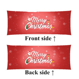 Merry Christmas body Pillow soft Bedding Supplies happy new year long  pillows birthday Gifts custom-made 40cm*100cm