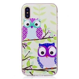 Barato Desenhos Animados Da Coruja De Noite-Fashion Cartoon Soft TPU Case para Galaxy S8 Plus S7 Edge Silicone Owl My Life Cat Cute Lovely Night Bird Colorful Clear Back Cover Skin 2017