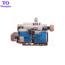 Wholesale New for Samsung Galaxy S III S3 i9300 Sim Card Reader Holder sim memory card holder with Memory Socket flex cable