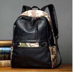 Backpack Stitching Canada - brand leather bag camouflage man backpack fashion color, wind schoolbag personality camouflage stitching travel back Camouflage bag