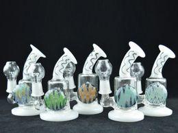 "Gun Water Bong NZ - Glass Gun Bong Water Pipe Inline Perc 5.5"" Mini Oil Glass 14mm Glass Bowl Bubbler Pipe Gift Grinder High Quality"