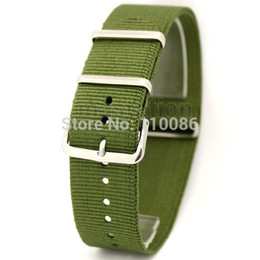 $enCountryForm.capitalKeyWord Australia - Wholesale-Army Green 22mm Band Width Fabric Nylon Canvas Wrist Watch Band Strap Stainless Steel Buckle Sports Mens Womens free shipping