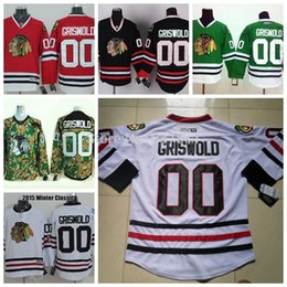 Cheap Chicago Blackhawks Vintage Hockey Jerseys  00 Griswold Jersey White  Black Green Throwback Griswold CCM Stitched Jersey 089ff5caf