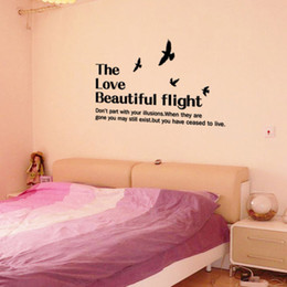 $enCountryForm.capitalKeyWord NZ - Love Beautiful Flight WALL STICKERS REMOVABLE HOME DECAL Art PVC DECOR WORDS WALL GRAPHICS LETTERING WALL MURALS