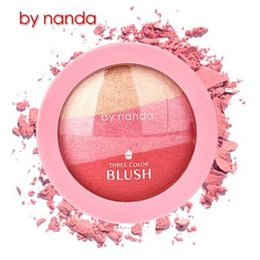 sleek face palette Canada - New Arrival Lady BY NANDA New Beauty Face Blush Makeup Baked Cheek Color Blusher Palette Colorete Sleek Cosmetic Face Shadow Press Powder