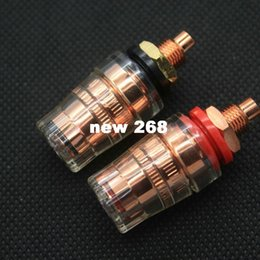 $enCountryForm.capitalKeyWord Canada - 10PCS EIZZ Red Copper Plated Brass Speaker Amplifier Binding Post Terminal Connector Short Hread