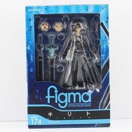 Аниме меч искусство онлайн Киригая Кадзуто Фигма 174 ПВХ фигурку коллекционная модель игрушки для детей игрушки 15 см