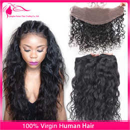 way lace closure brazilian NZ - Free Middle 3 Ways Part Lace Closure With Hair Bundles 4pcs lot Wet Wavy Brazilian Virgin Hair Weaves With Lace Closure 4x4