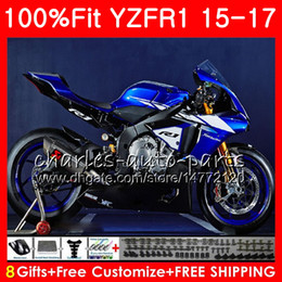 yamaha blue Australia - Injection Body For YAMAHA YZF 1000 YZF-R1 15 17 YZF Stock blue R1 2015 2016 2017 87NO39 YZF1000 YZF R 1 YZF-1000 YZFR1 15 16 17 Fairing kit
