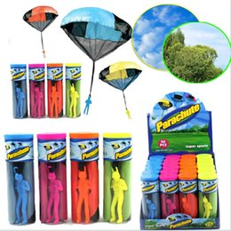 toy kites NZ - Hand Throwing parachutes Kite kids mini play parachute soldier toy Children's Educational Toys Kites free shipping