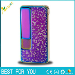 $enCountryForm.capitalKeyWord NZ - New hot Design Metal Plating USB Lighter + Gas Lighter Windproof Lighter Men Electronic Cigarette Lighters Business Gifts Box
