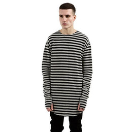 $enCountryForm.capitalKeyWord UK - Summer Long Sleeve 100% Cotton T-Shirt Spring Autumn Striped Casual T-Shirts High Quality Long Plain Tee Shirt Kanye Street Wear for male