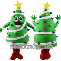 2017 christmas tree fancy dress costumes the christmas tree mascot costume high quality fancy dress adult - Discount Christmas Trees