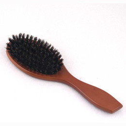 $enCountryForm.capitalKeyWord Canada - Wood Hair Brush Combs Boar Bristle Hair Brush Paddle Hair Brush for Wholesale Detangling Salon Hair Brush Boar
