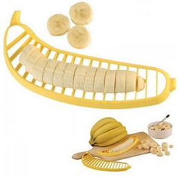Banana Cutter Slicer Chopper Canada - Banana Slicer Chopper Cutter Peeler Fruit Salad Sundaes Cereal Easy Kitchen Tools Gadget Helper free shipping