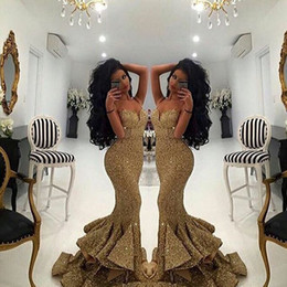 prom dresses chiffon fabric 2019 - Mermaid Sequins Fabric Prom Dresses 2016 Party Dress Sweetheart Neckline Evening Dresses Wedding Party Sexy Custom Made