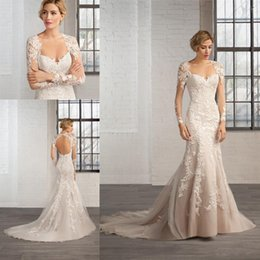 c3bc948d6ce Keyhole Backless Long Sleeves Wedding Dresses 2019 Elegant Lace Applique  Mermaid Bridal Gowns Plus Size India Arabia Vestido De Noiva