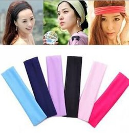 Étirement En Gros Pas Cher-Vente en gros - Stretch Bandeau Sports Yoga bande de cheveux Sweat Head Wrap Unisexe bon Stretch Bandanas 1000pcs / Lot H116