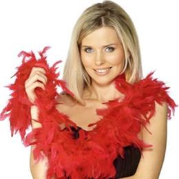 Black Boa Feathers Canada - Feather Boa Marabou Scarf Wrap Burlesque Marabou Feather Boa Wedding Marabou Feather Boa Scarf Fast Shipping White Black Pink Red Yellow
