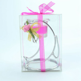 Wholesale FEIS dolphin-shaped Stainless Steel wedding candle holder Cup Candle Stand Party&Valentine's day Favors Candlestick Candelabra home deco