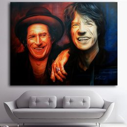 Art Canvas Prints Australia - 1 Panel Mick And Keith Wall Art Pictures HD Printed Modular Poster Paints Canvas Painting For Home Decoration No Framed