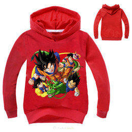 Barato Dragão De Manga Longa T-Kids Tshirt Dragon Ball Baby Boys Tops manga comprida Hoodies e camisolas Coat Boys Girls T camisas roupas