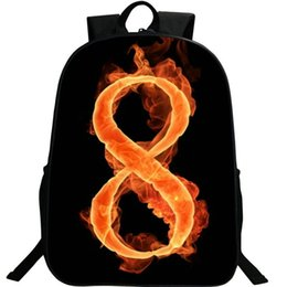 $enCountryForm.capitalKeyWord UK - 8 lucky number backpack Unisex nylon daypack Fire figure schoolbag Photo rucksack Sport school bag Outdoor day pack