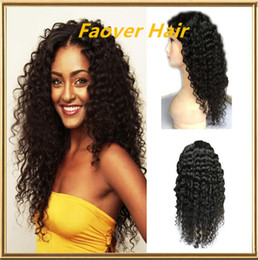 $enCountryForm.capitalKeyWord Canada - Grade 8A kinky curly 1#,1b,2#,4#,Natural Color 100% Brazilian Virgin Hair 130% density full Lace wig lace front wig with baby hair