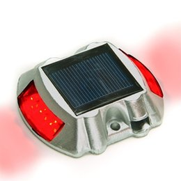 indoor step lights 2019 - LED Solar Studs Marker Solar 6LED Outdoor Driveway Pathway Light Ground Step Light Lamp Solar Powered LED Road Stud Stai