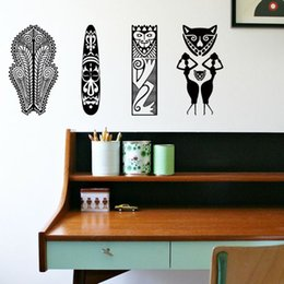 Pattern Decor Canada - Art Sticker 2015 hot selling environmental waterproof home decor Africa traditional patterns wall sticker for living room or bedroom