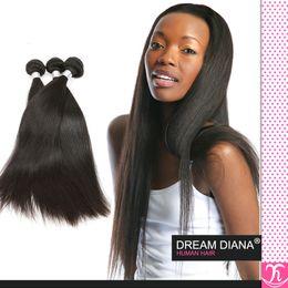 Discount lula human hair Grade 7a Peruvian Virgin Hair Straight 3 Bundles Ms Lula Hair Tissage Bresilienne 100% Human Hair Virgin Peruvian Hair B