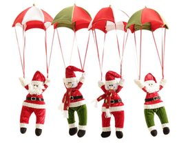 Wholesale Christmas Decorations Hanging Christmas Decorations Parachute Santa Claus Snowman Ornaments For Christmas Indoor Decorations Gift