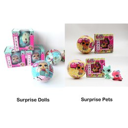 Vestir La Caja Baratos-LOL Surprise Dolls Desembalaje de Muñecas Viste a los Juguetes Baby Tear Open Change Muñecas de Huevo Spray Kids Gift Single Retail Box 3003211