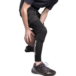 Discount youth pads - Wholesale- ROBESBON Sports Knee Pads Legwarmers Compression Pro Knee Sleeves Youth Adult Sizes Basketball Wrestling Voll