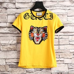 T-shirt Homme Jaune Pas Cher-NWTFashion New Fashion Men Jaune Angry Cat T-Shirt XL SS17