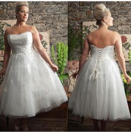 Plus Size Tea Length Wedding Dresses Suppliers   Best Plus Size ...