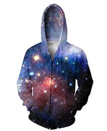 Couple Cardigan Pas Cher-Nouveau Mode Couples Hommes Femmes Unisexe Galaxy Espace 3D Imprimer Zipper Sweat À Capuche Sweat À Capuche Top S-5XL LL14