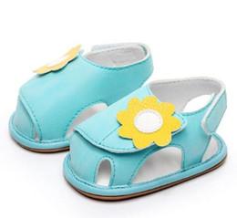 $enCountryForm.capitalKeyWord Australia - New Sweetly baby girls sandals Rubber bottom first walker shoes flower decoration Newborn baby sandal for 0-24M