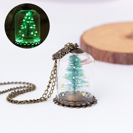 $enCountryForm.capitalKeyWord NZ - Merry Christmas Party Pendant Necklace Chain Children Xmas Tree Pendant Glass Locket Jewelry Necklaces for Personalized Xmas Gifts