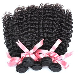Discount deep curly wavy hair - curl brazilian virgin hair bundles wholesale deep curly human hair weave wavy hair extensions 10pcs lot greatremy factor