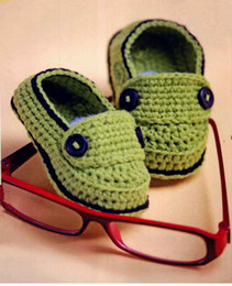 $enCountryForm.capitalKeyWord NZ - handmade booties Baby loafer Shoes Green Baby Loafers infant knitted first walker shoes 0-12M baby shoes custom