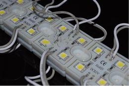 Red Module Canada - 100pcs 5050 4 LED Modules White Warm White Waterproof IP68 DC12V smd led 5050 module Free Ship