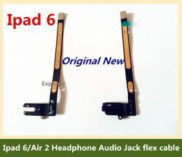 $enCountryForm.capitalKeyWord Canada - Fast delive Headphone Audio Jack flex cable For Apple ipad 6 Air 2 Earphone jack flex cable Black White Replacement parts
