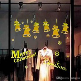 Christmas Removable Window Stickers Canada - Free DHL Home decoration wall decals Christmas decorations Window Stickers mural wall stickers home decor wallpaper LA73-5